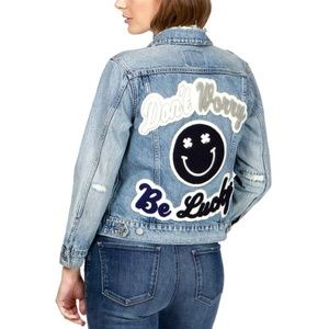 Lucky Brand Don't Worry Be Lucky Jean Denim Jacket